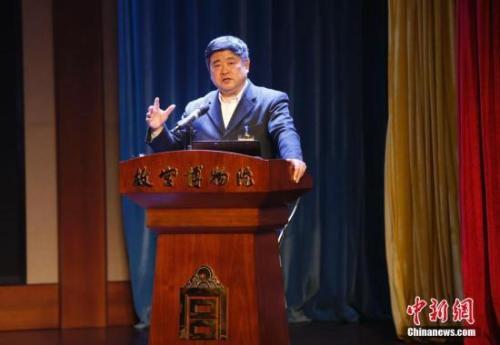 故宫博物院院长单霁翔。<a target='_blank' href='http://www.chinanews.com/'>中新社</a>记者 刘关关 摄
