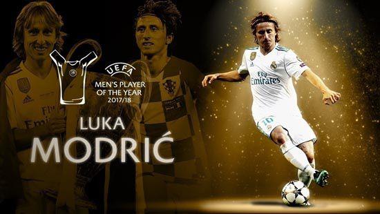 莫德里奇荣膺欧洲最佳球员