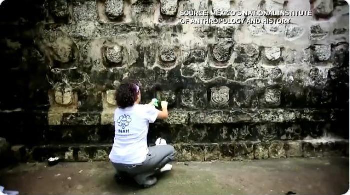 墨西哥的考古学家发现了一座玛雅文明的宫殿。(图片来源:视频截图)