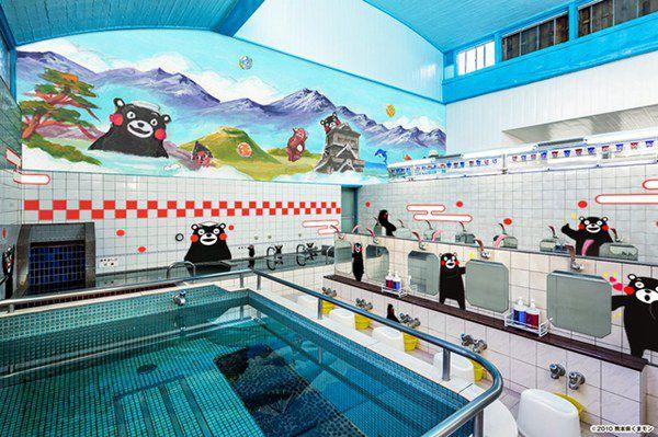 东京下町推出熊本县主题澡堂 宣传熊本魅力(图片来源:朝日新闻网站)