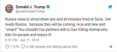 特朗普11日发布推文