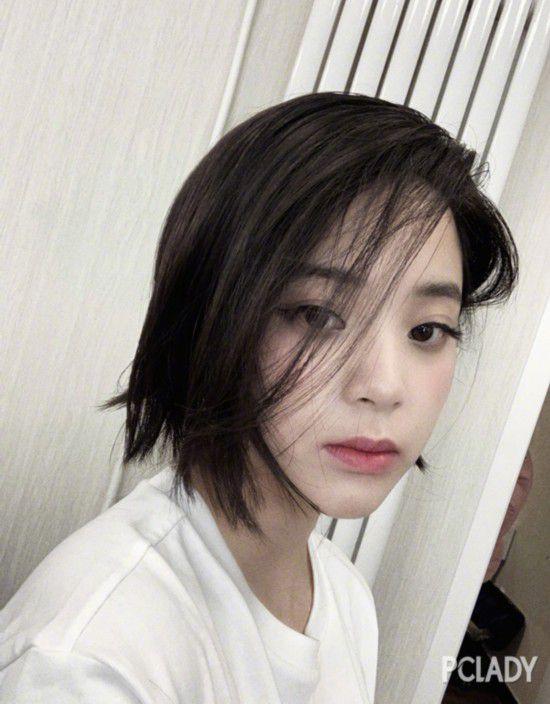 欧阳娜娜剪短发,那张怦然心动的初恋脸不见啦?