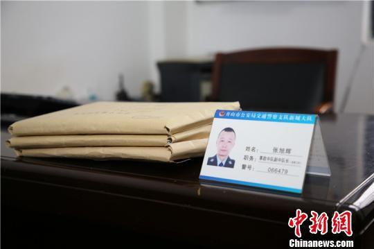 图为张旭辉办公环境 舟山市公安局供图