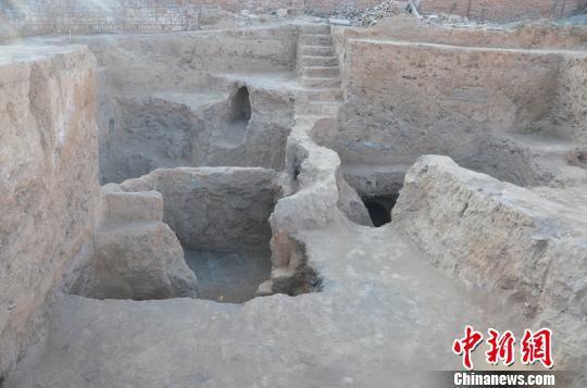 考古发掘的陶窑。陕西省考古研究院供图