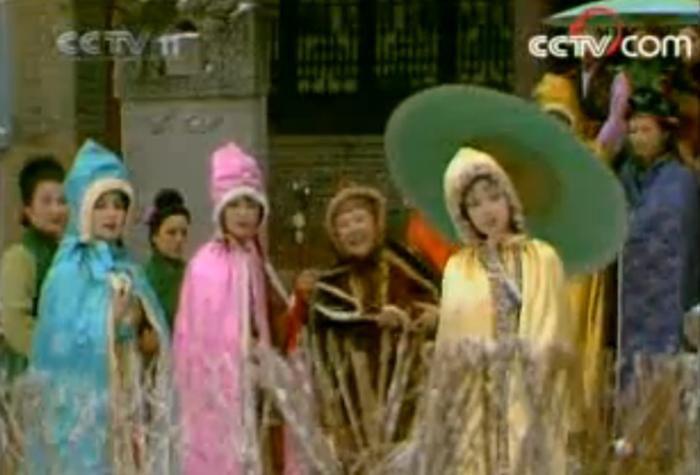 电视剧《红楼梦》中,下雪后众人的装束。图片来源:87版《红楼梦》视频截图