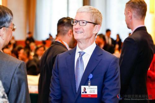 图为苹果公司CEO蒂姆・库克。中国发展高层论坛主办方供图