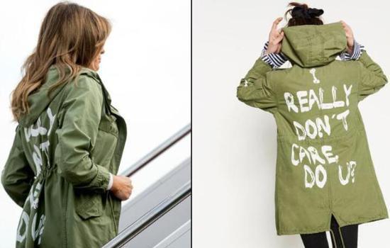 美国第一夫人所穿夹克引发争议