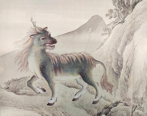 《给孩子的清宫兽谱》中的麒麟。