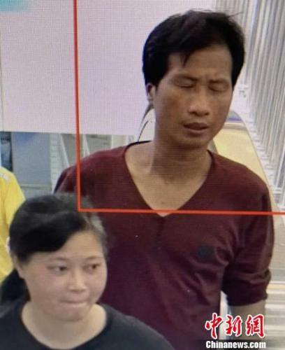 7月4日高铁站监控梁、谢二人出现画面。 警方 供图 摄