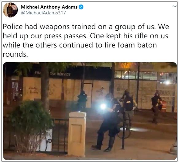 竟然,有这么多西方国家记者都被美国警察打了