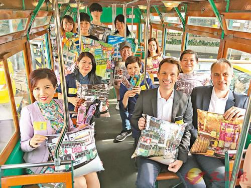 """""""文化葫芦""""在120号电车上举行剧场表演,希望让大众感受香港地道文化。图片来源:香港文汇报"""