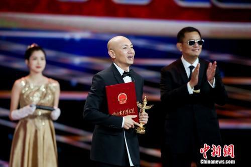 林超贤获第17届华表奖优秀导演奖。来源:主办方供图