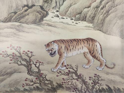 《给孩子的清宫兽谱》中的虎。