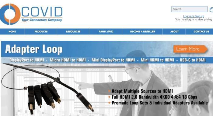 资料图:美国COVID公司网页。图片来源:COVID公司官网截图