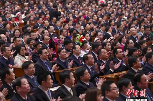 3月4日上午,第十三届全国人民代表大会第一次会议在北京人民大会堂举行预备会议。<a target='_blank' href='http://www.chinanews.com/'>中新社</a>记者 刘震 摄