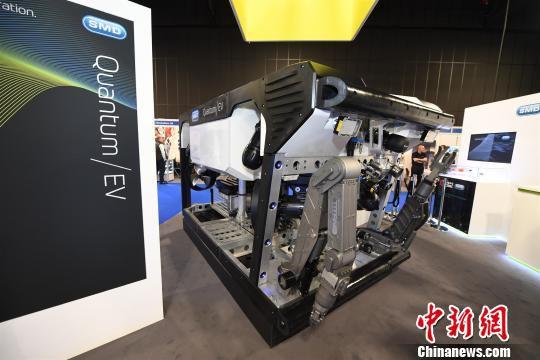 长约3.3米、宽1.8米、高1.9米的QUANTUM/EV型电动ROV。 中车时代电气供图