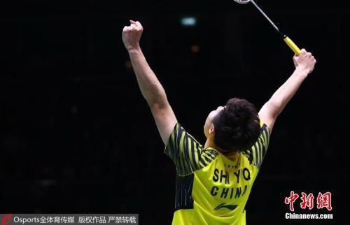 2018汤姆斯杯决赛,石宇奇2:0战胜西本拳太。图片来源:Osports全体育传媒