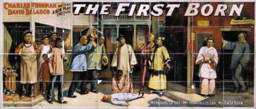 1897年美国上演的戏剧海报,反映了当时华人劳工的生活状况。