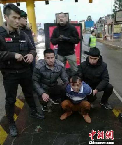 图为抓捕现场。警方供图 警方供图 摄